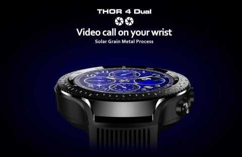 zeblaze thor 4 dual smart watch phone