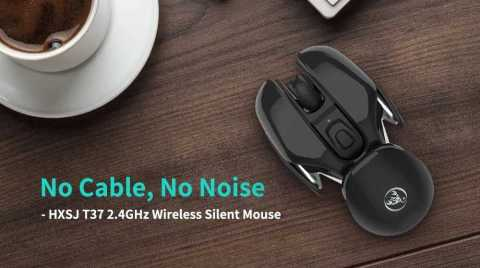 hxsj t37 2.4ghz wireless silent mouse
