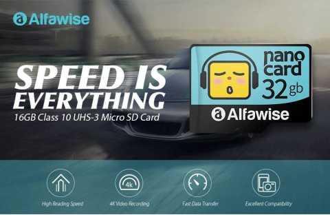 alfawise cartoon face high speed micro sd tf card