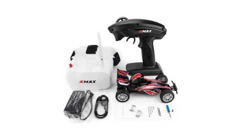 emax interceptor 1/24 fpv rc car with goggles controller