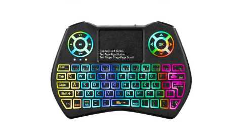 i9 plus mini 2.4ghz keyboard colorful backlight