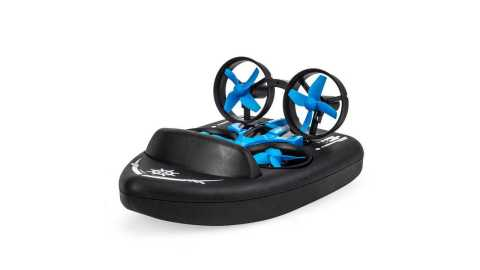jjrc h36f terzetto 1/20 3 in 1 rc vehicle drone boat