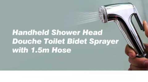 handhold shower head douche toilet bidet sprayer