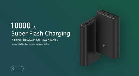 xiaomi powerbank 3 10000mah 50w super flash charging power bank