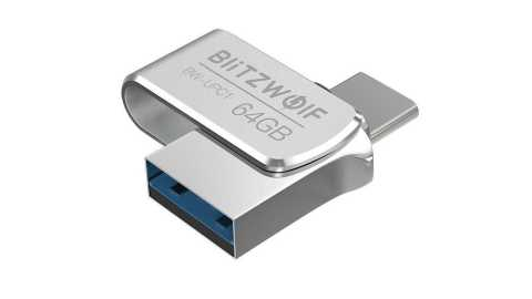blitzwolf bw-upc1 2 in 1 type-c usb flash drive
