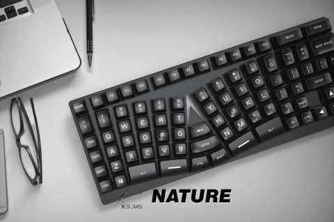 Nature KB 1 86 - Nature KB-1 86 keys Ergonomic Mechanical Keyboard Banggood Coupon Promo Code