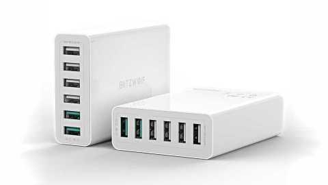 blitzwolf bw-s15 60w dual qc3.0 6-ports smart charger