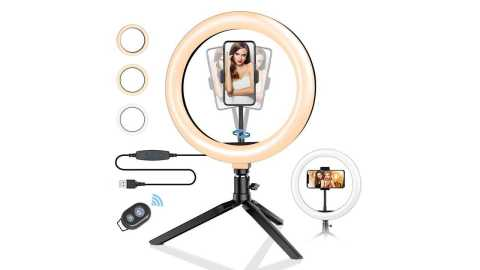 BlitzWolf BW SL3 10inch Dimmable LED Ring Light - BlitzWolf BW-SL3 10inch Dimmable LED Ring Light Banggood Coupon Promo Code [USA Warehouse]
