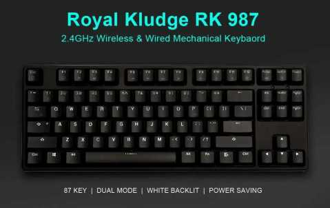 royal kludge rk 987 dual mechanical gaming keyboard