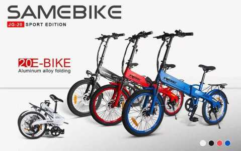 Samebike JG20 - Samebike JG20 Sport Edition Folding E-Bike Gearbest Coupon Promo Code [Poland Warehouse]