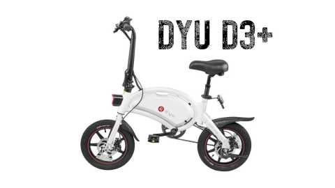 DYU D3 plus - DYU D3+ Folding Moped Electric Bike Banggood Coupon Promo Code [White] [UK Warehouse]