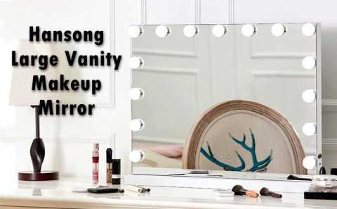 Hansong Large vanity Makeup Mirror - Hansong Large Vanity Makeup Mirror with Lights Amazon Coupon Promo Code