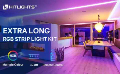 HitLights LED Strip Lights - HitLights RGB Strip Light Kit 32.8ft Amazon Coupon Promo Code