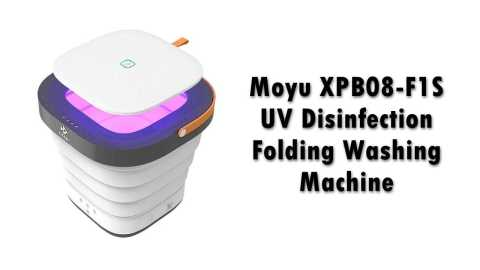 Moyu XPB08 F1S UV Disinfection Folding Washing Machine - Moyu XPB08-F1S UV Disinfection Folding Washing Machine Banggood Coupon Code [Czech Warehouse]