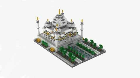 WLtoys YZ068 taj mahal - WLtoys YZ068 2169pcs India Taj Mahal Puzzle Banggood Coupon Promo Code