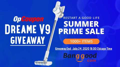 dreame v9 giveaway - Dreame V9 Banggood Summer Prime Sale Giveaway [Ended]