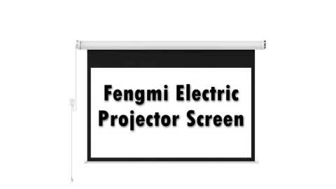 Fengmi Electric Projector Screen - Fengmi Electric Projector Screen 100 inches Banggood Coupon Promo Code [Australia Warehouse]