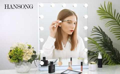 Hansong Vanity Makeup Mirror - Hansong Large Vanity Makeup Mirror with Lights Amazon Coupon Promo Code [18x22.8inch]