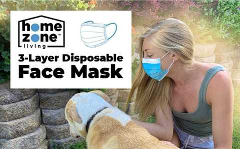 Home Zone Living 50pc Disposable Face Mask - Home Zone Living 3-Layer Disposable Face Mask Amazon Coupon Promo Code [50PCS]