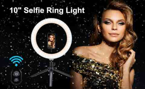 "MARCHERO LED Selfie Ring Light - MARCHERO 10"" LED Selfie Ring Light with Tripod Stand Amazon Coupon Promo Code"