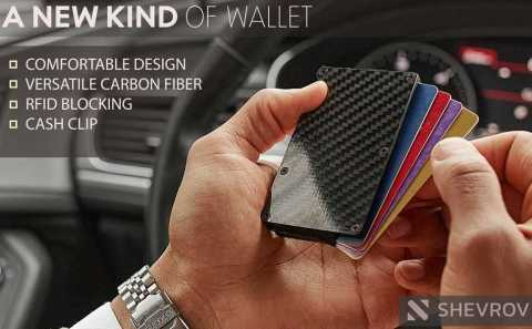 SHEVROV SV RFID Carbon Fiber Wallet - SHEVROV SV RFID Carbon Fiber Wallet for Men Amazon Coupon Promo Code