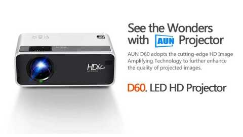 AUN D60 - AUN D60 LED HD Projector Banggood Coupon Promo Code [Czech Warehouse]
