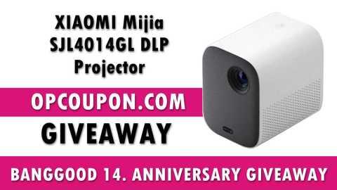 BANGGOOD 14 giveaway - XIAOMI Mijia DLP Projector Banggood 14. Anniversary Giveaway [Ended]