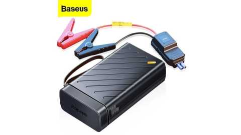 Baseus Portable Car Battery Charger - Baseus Portable 16000mAh Car Jump Starter Banggood Coupon Promo Code [Czech Warehouse]