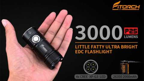 FiTorch P25 - FiTorch P25 LED Flashlight Gearbest Coupon Promo Code