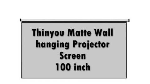 Thinyou Matte Gray Fabric Fiber Glass Wall hanging Projector Screen - Thinyou Matte Wall hanging Projector Screen 100 inch Banggood Coupon Code [USA Warehouse]