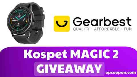 kospet magic 2gearbest - Opcoupon Gearbest Giveaway [Kospet MAGIC 2] [Ended]