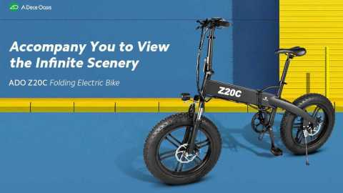 A Dece Oasis ADO Z20C - A Dece Oasis ADO Z20C Folding Fat Tire Electric Bike Gearbest Coupon Code [Germany Warehouse]
