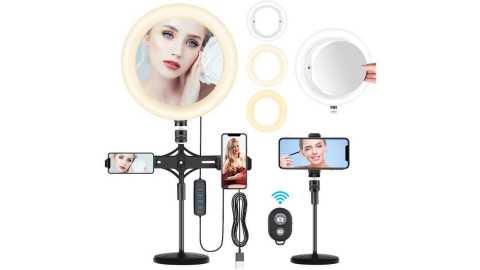INSMART 10inch selfie ring light - INSMART 10'' Selfie Ring Light with Cell Phone Holder Amazon Coupon Promo Code