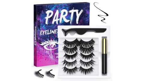 Malanzs Magnetic Eyelashes party - Malanzs Magnetic Eyelashes and Magnetic Eyeliner Kit Amazon Coupon Promo Code [Party]