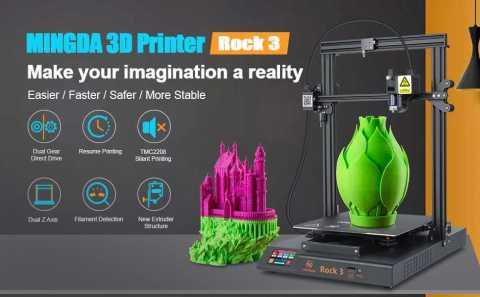 MINGDA Rock 3 - MINGDA Rock 3 3D Printer Amazon Coupon Promo Code