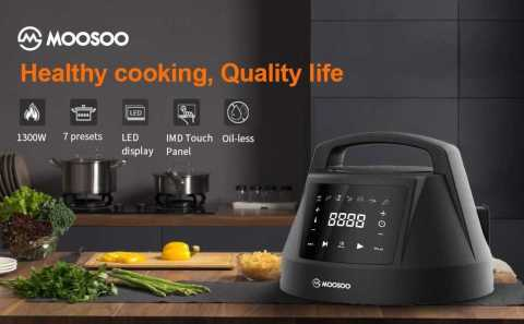 moosoo Air Fryer Lid - MOOSOO Air Fryer Lid for Instant Pot 6 QT Amazon Coupon Promo Code