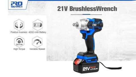 ProStormer 21v wrench - ProStormer 21V Brushless Wrench Aliexpress Coupon Promo Code