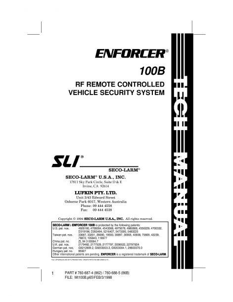 Riasztó Enforcer100B