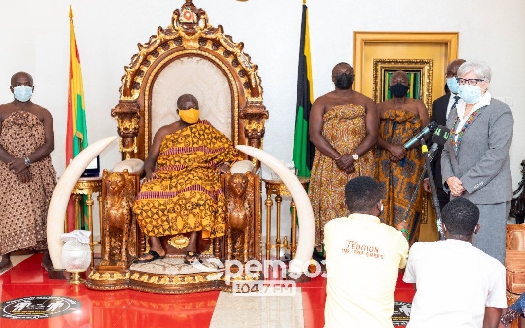OTUMFUO HAILS U.S FOR PROVIDING GHANA WITH VACCINES