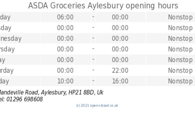 Asda Groceries Aylesbury Opening Times Mandeville Road