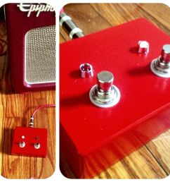 diy guitar amp footswitch for epiphone triggerman 60 2 button  [ 900 x 900 Pixel ]