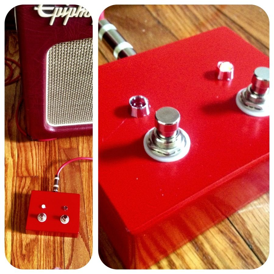 hight resolution of diy guitar amp footswitch for epiphone triggerman 60 2 button