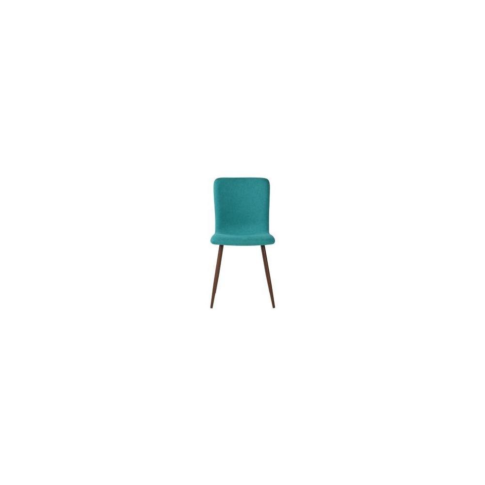 Lot De 4 Chaises Scandinave Tissu Velours Turquoise
