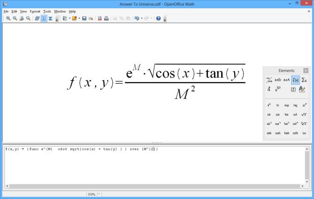 interface openoffice math