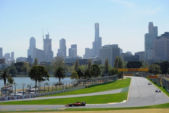 Ferrari in action at Melbourne 2014 Australian GP Practice