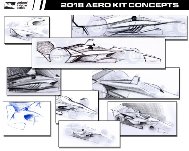 Early renderings of 2018 universal aero kit.