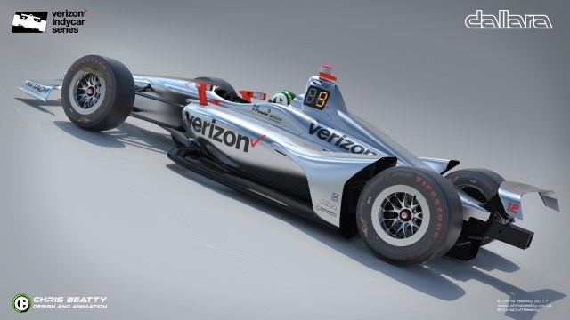 Verizon livery on the new IndyCar universal aero kit