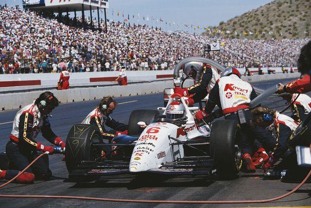 Mario Andretti during the 1993 Valvoline 200 at Phoenix.