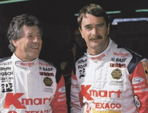 Mario Andretti and Nigel Mansell in 1993.