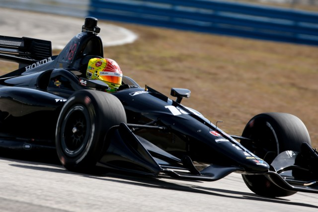 Pietro Fittipaldi tests an IndyCar for Dale Coyne Racing